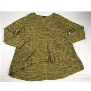 Eileen Fisher Tunic Top 1X V Neck 3/4 Sleeve Green